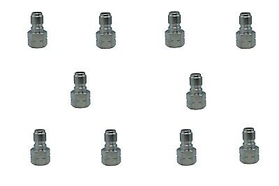 Pressure Washer Hose Quick Connect Coupler Plug 38 Fpt - 10 Pack