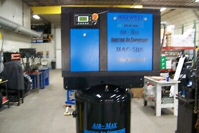Air-max 5 Hp Rotary Screw Air Compressor 80 Vertical 12 Year Warranty