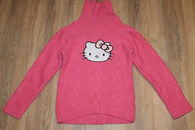 Mädchen Pullover Rollkragen Hello Kitty Gr. 134 rosa C&A Hello Kitty Kragen