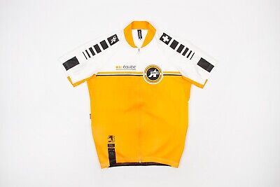 ASSOS EQUIPE Mens Short Sleeve Cycling Jersey Size LARGE Orange -