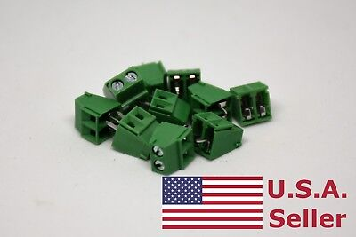 10pcs 3.5mm Universal 2 Pin 2 Poles Pcb Screw Terminal Block Connector