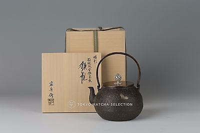 Takaoka Tetsubin [Imperial] Hojyu (Cintamani) Chrysanthemum w gold silver inlay