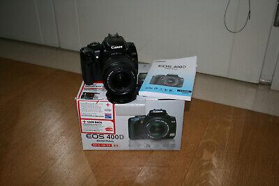 Fotocamera Canon EOS 400D reflex digitale + obiettivo Canon 18-55 + scatola
