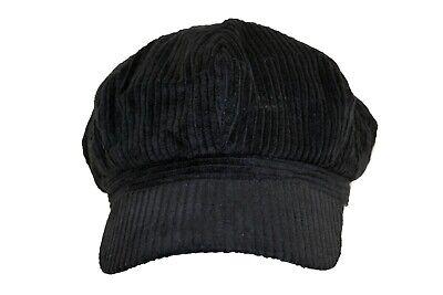 Unisex Lightweight Corduroy Newsboy Hat Gatsby Ivy Cap Black New Corduroy Newsboy Cap