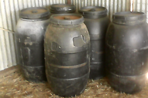 220 litre plastic feed drums Tatura Outer Shepparton Preview