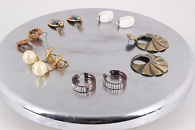 LOT OF VARIOUS COSTUME CLIP ON & STUD EARRINGS FASHION 1883