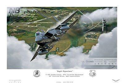 494th Fighter Squadron F15E, RAF Lakenheath 48th Fighter Wing, Digital Artwork
