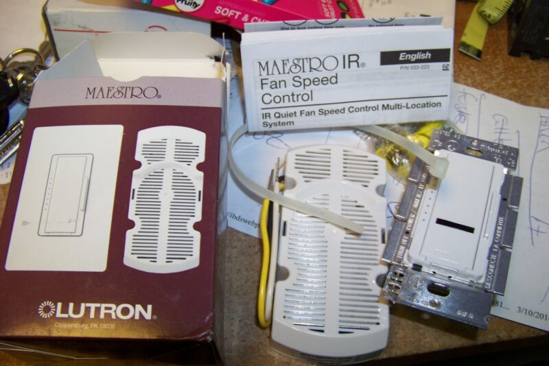 new Lutron MIR-FQ4FM-WH  White Maestro IR 120 Volt 4 Ampere Single Pole switch