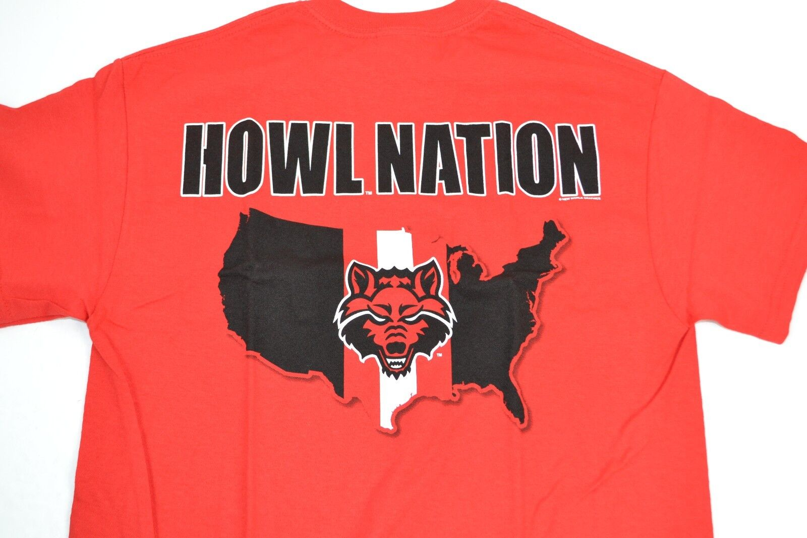 NCAA Arkansas State Red Wolves ADULT Howl Nation 2-Sided T-S