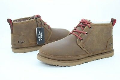 dc9bf6969fe UGG For Men Boots Neumel Waterproof Leather / Wool Grizzly Brown US Size 9