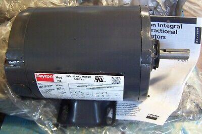 New Dayton 1 Hp Electric Motor 56 Frame 208-230460 Vac 3450 Rpm 3 30pt92 Wkey