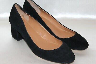 J CREW Black Suede Leather Low Heel Classic Pumps Heels Sz 9 Black Suede Leather Classic Pumps