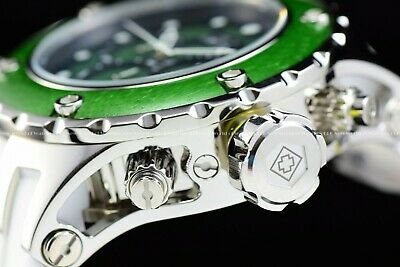 Invicta 52mm Subaqua Reserve Wild WOOD Ed Green Polished 500M Diver Chrono Watch