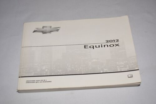 2012 CHEVROLET EQUINOX OWNERS MANUAL BOOK