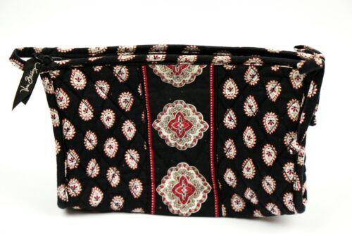 Vera Bradley Cosmetic Bag in Classic Black - Make Up Case - Black, Red, White
