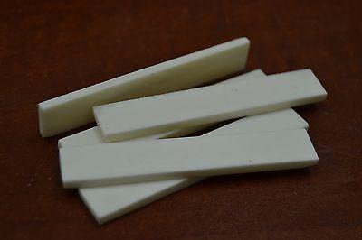 "5 PCS GUITAR BUFFALO BONE SADDLE BLANKS 2 1//2/"" x 1//2/"" x 3mm #T-650"