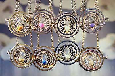 Harry Potter Necklace UK Time Gold Turner Hermione Hourglass Pendant