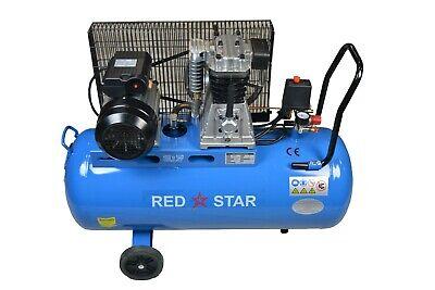 100L Ltr Litre Air Compressor 8 CFM 3HP 12 Bar Engine Gauge Portable 180psi 220v