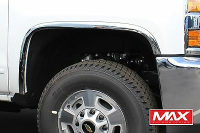 FTCH206 2015-2018 Chevy Silverado 2500/3500 HD POLISHED Stainless Fender Trim