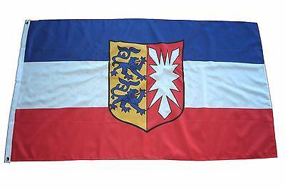 Flagge Fahne Schleswig Holstein mit Wappen   150x90cm
