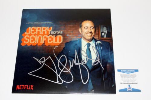 COMEDIAN JERRY SEINFELD SIGNED COMEDY ALBUM VINYL RECORD LP BECKETT BAS COA