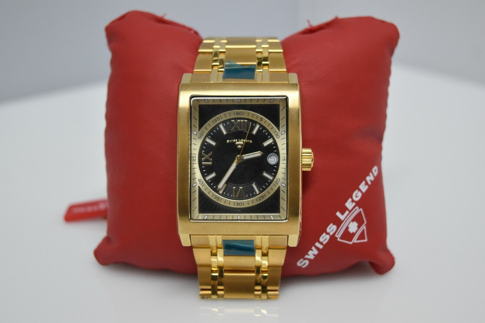 Swiss Legend Limousine Rectangle SL-30012 Watch Gold/Black