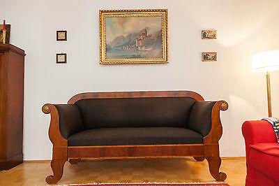 Biedermeier-Sofa um 1825-30 - Rüster und Mahagoni