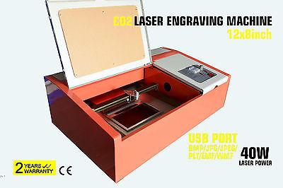 CO2 Laser Graviermaschine Gravurmaschine Engraver Cutter Lasergravier 40W