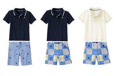 NWT Gymboree Marina Party, Egg Hunt Shorts & Polo 2pc Sets  U-Pk 2T, 4T, 4