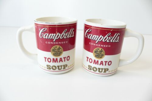 Vintage Campbell's Tomato Soup Coffee Mugs Cups Lot of 2 FAST FREE SHIPPING