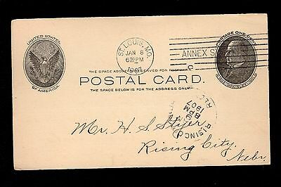 American Bed Company St. Louis MO to Rising City NE 1907 Postal Card 3m](Party City Saint Louis Missouri)