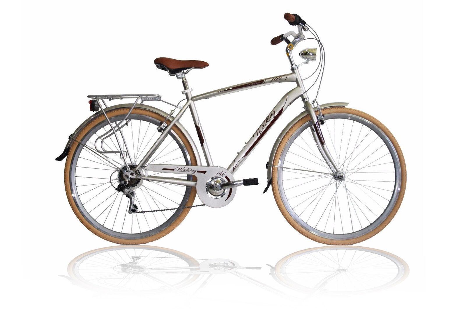 BICI TREKKING 28 CITY BIKE UOMO TELAIO ALLUMINIO CAMBIO SHIMANO 7V BICICLETTA