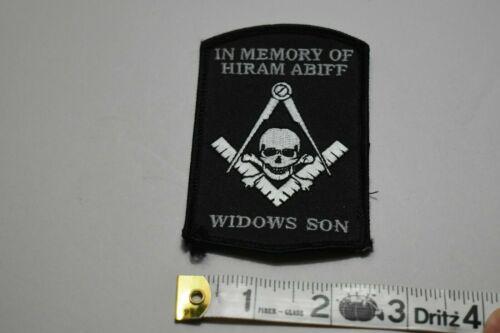Memory of Hiram Abiff Widows Son Masonic fraternal patch