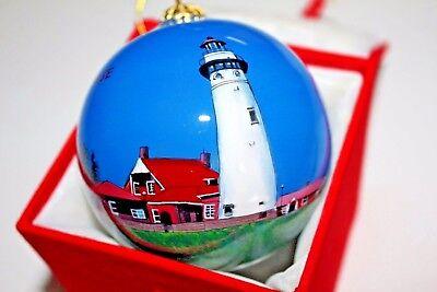 SEUL CHOIX LIGHTHOUSE Glass Ball (Lighthouse Glass Ball)