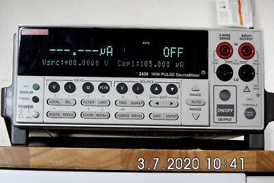 Keithley 2430 1kw Pulse Mode Sourcemeter To 100v 10a Rev C33 Nist 42019