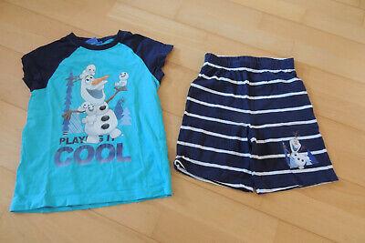 Schlafanzug Shorty Junge Pyjama Eiskönigin Olaf Disney Gr. 110,116