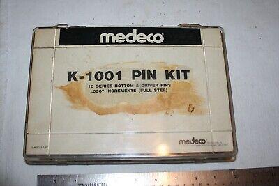 Keying Kit Medeco Pin K-1001 10 Series Bottom Drivers .030 Locksmith