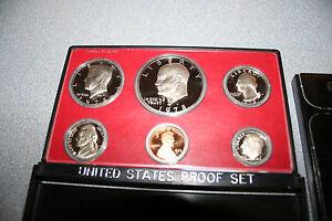 1978 US Coin Proof Set Eisenhower Dollar Kennedy Half Birth Year Free Ship 00800