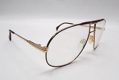 NOS Vintage SILHOUETTE M 7081 /23 AVIATOR Burgundy & Gold 59[]13-130 4586