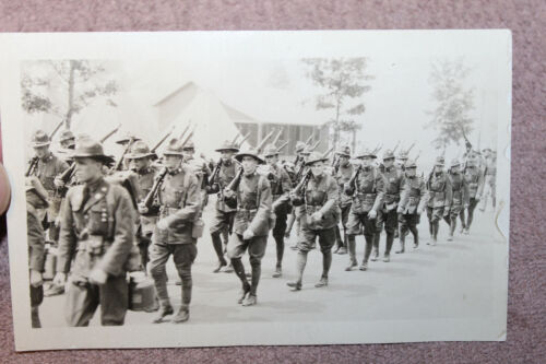 Original WW1 Photograph U.S. Army 91st Infantry Division Soldiers on the March