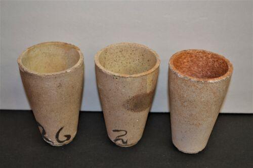 Antique Mining Assay Cups Crucible Bundle Lot of 5 Stone Prescott Arizona