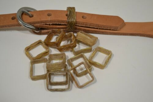 "Keepers - braided rawhide-5/8""5/8""  appx. 1/4"" wide - Pack of 10  (F42)"