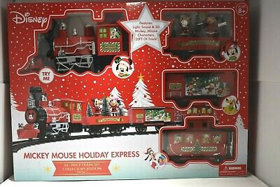 DISNEY Mickey Mouse Holiday Express 36 Piece Train Set