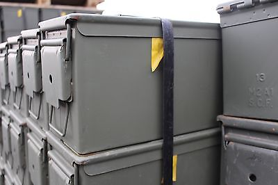 Ammo Can US Army Military M2A1 50 Cal Ammunition Metal Storage 5.56MM FREE SHIP