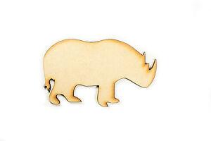Raw-MDF-Wood-Wooden-Shape-Shapes-Rhino-Cutout-Craft-Home-Room-Decor-Kids