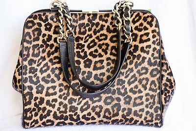 Point Spade - KATE SPADE Crown Point Garcia Calfhair Leopard Leather Shoulder Bag - NEW