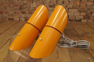 2x 60er Space-Age WANDLAMPE WANDLEUCHTE LAMPE LEUCHTE FOS & MORUP Danish Modern