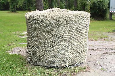 Slow Horse Hay Round Bale Net Feeder Save $$ Eliminates Waste Fits 5' x 5' Bales