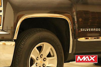 FTCH205 2014-2015 Chevrolet Silverado 1500 POLISHED Stainless Steel Fender Trim