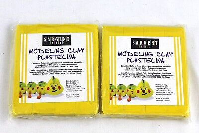 Sargent Art 1 Pound Solid Yellow Modeling Clay 2 Pack, 2 lbs Total, New